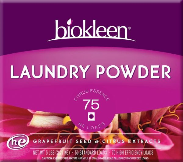 biokleen laundry powder citrus essence with grapefruit seed and citrus extracts