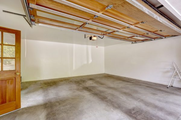 a clean and empty garage from living well spending less