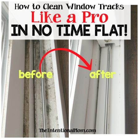 how to clean window tracks like a pro before and after from the intentional mom