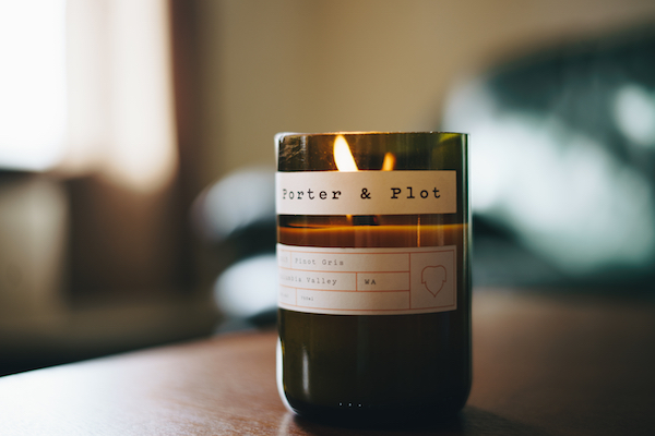 porter and plot pinot gris-scented candle