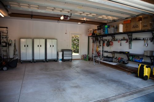 clean and organized garage