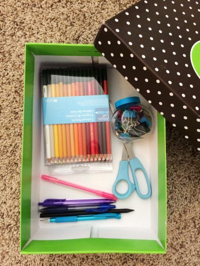 eco-friendly green shoe box storage made by paige smith