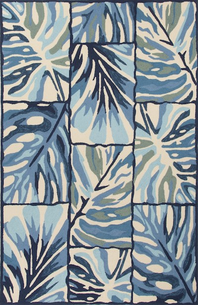 lori dennis' outdoor leaf-patterned rug