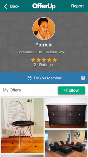 OfferUp profile page