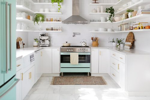 A clean airy kitchen with houseplants