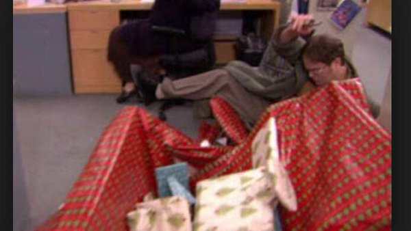 dwight wrapping paper desk