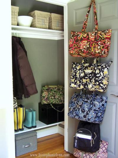 purse bag door storage