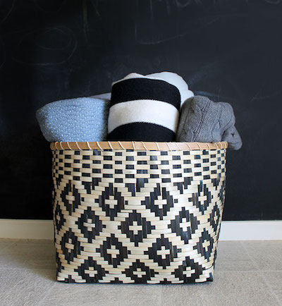 blanket basket storage