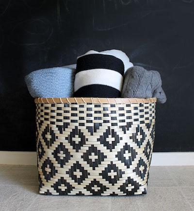 blanket basket storage