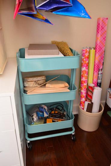 craft closet utility cart