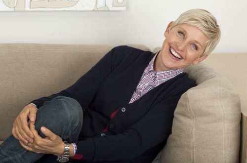 ellen degeneres sitting on a couch