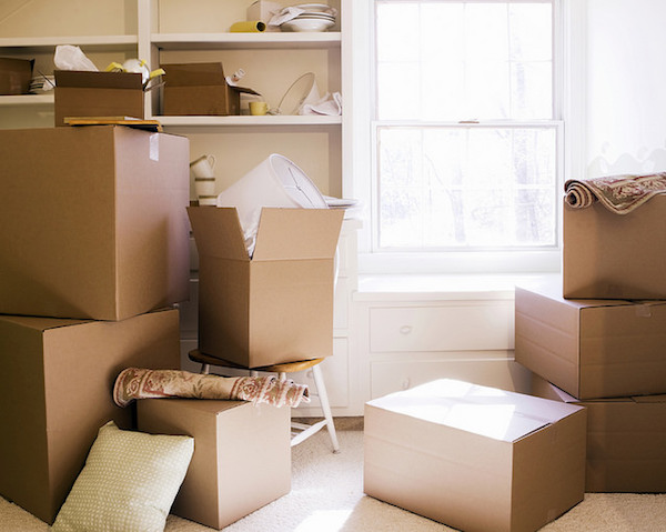 an assortment of boxes for moving