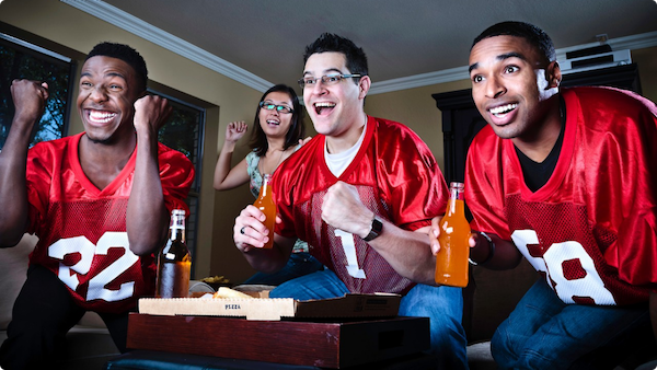 tailgate party football fans