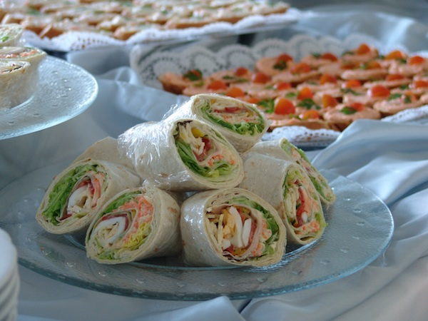 football party snacks wraps