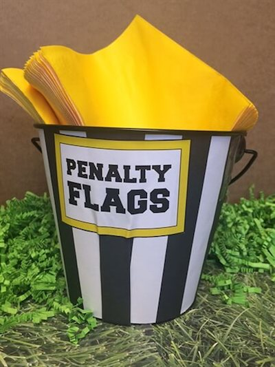 penalty flag napkins football party decorations