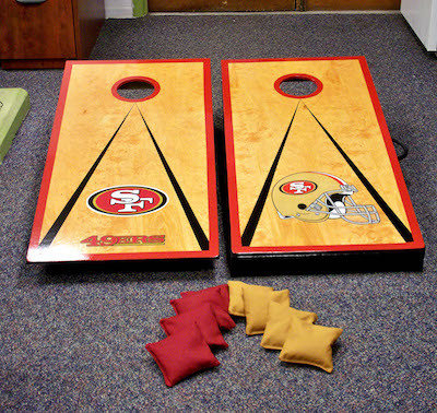 custom san francisco 49ers cornhole boards