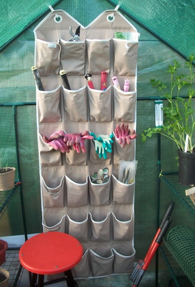 hanging shoe organizer garden equipment