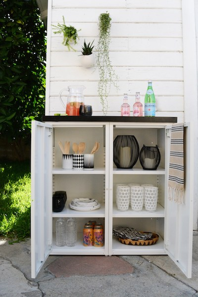 DIY outdoor buffet cabinet