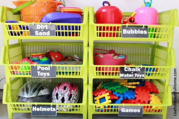 plastic basket toy storage