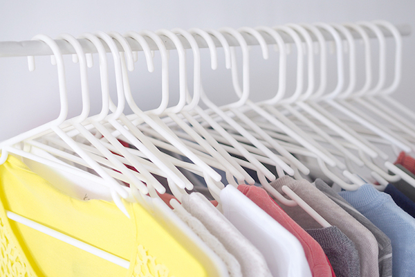sharing closet hangers