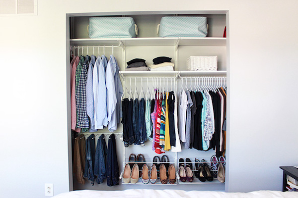 shared organized closet