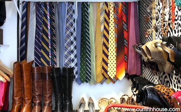 tie storage closet