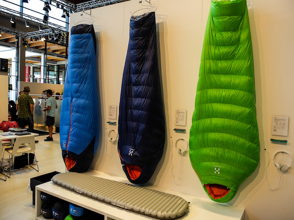 hanging sleeping bags