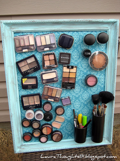 magnetic makeup storage board