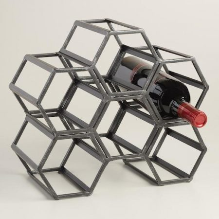 world market hexagonal wine rack