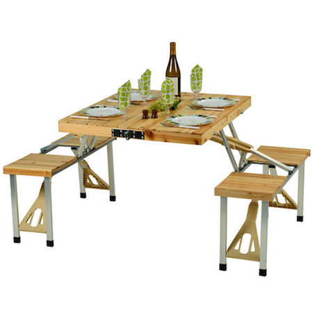 a foldable throop portable picnic table by loon peak