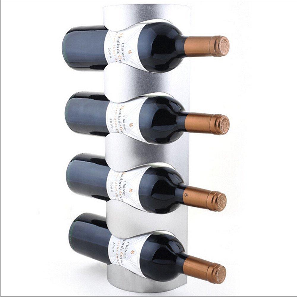 Stainless Steel Wall Mounted Wine Rack Elbow Room