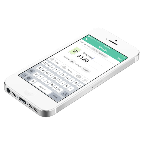 an IOU on display from Splitwise