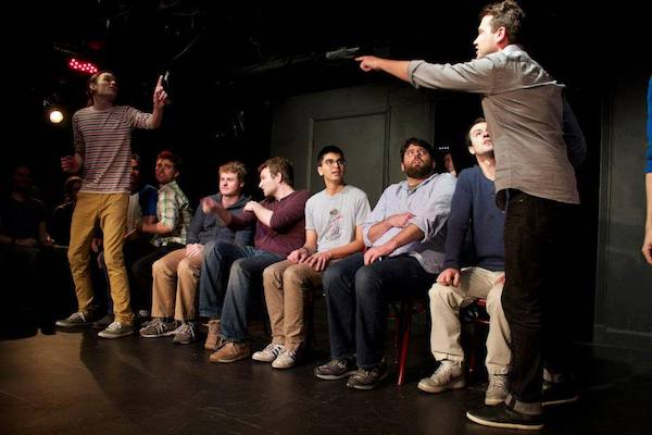 comedians onstage at the UCB theatre