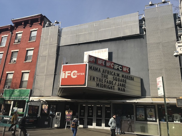 a sunny day outside the IFC center