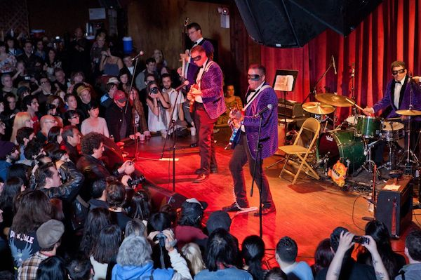 musicians perform to a riveted crowd at the bell house nyc