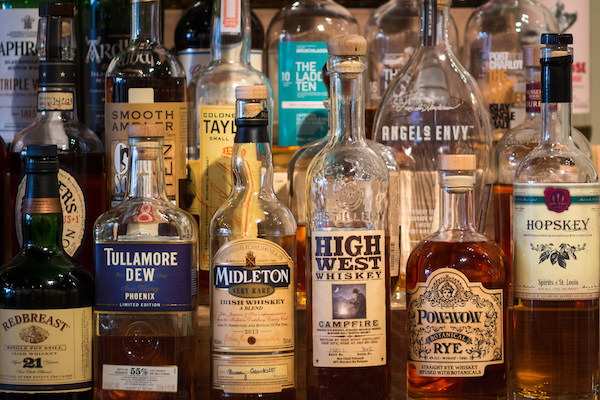 whiskey stored at room temperature