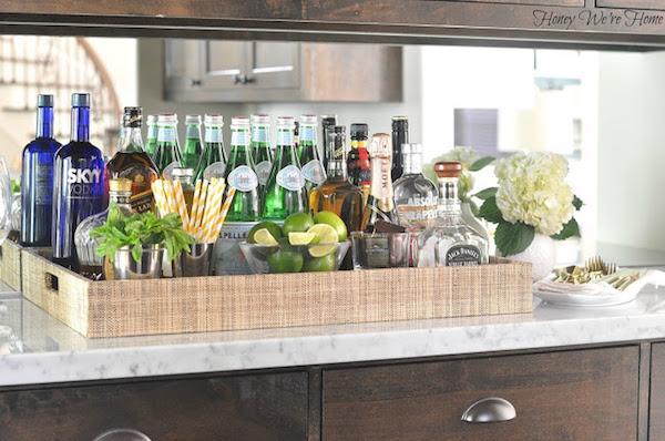 safe and organized liquor bottle storage