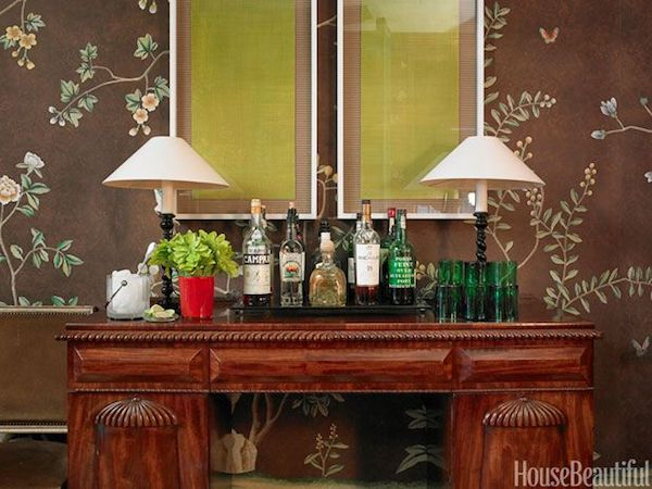 console table bar storage