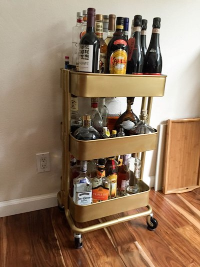 ikea raskog bar cart