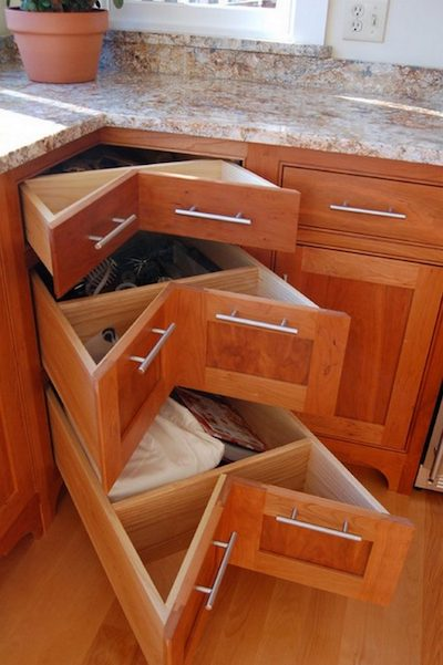 Corner Storage. Corner Cabinet Drawers