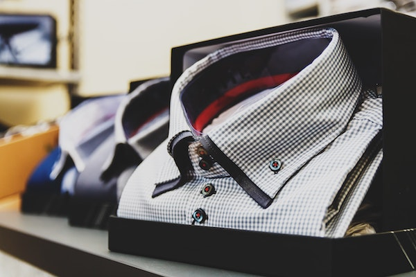 dress shirt in retail display box