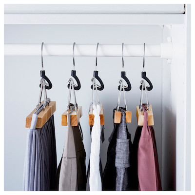 dress pants on felt clamp hangers