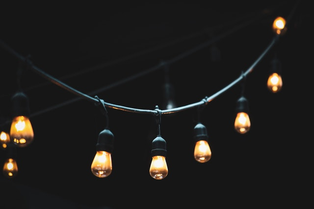 string lights made of little electric bulbs