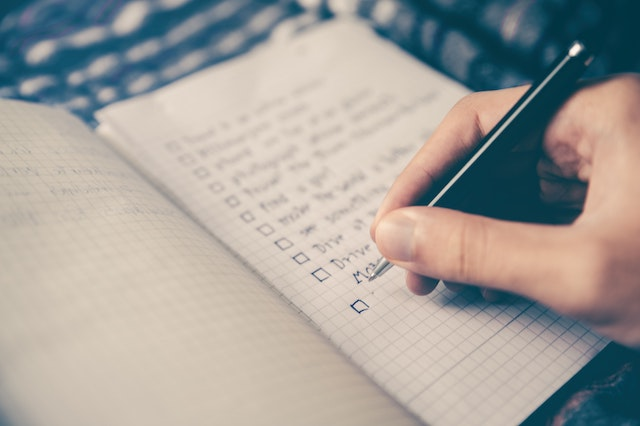 writing a to-do list