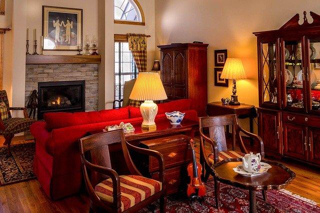 A beautiful antique living room