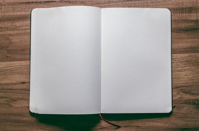 An open blank journal