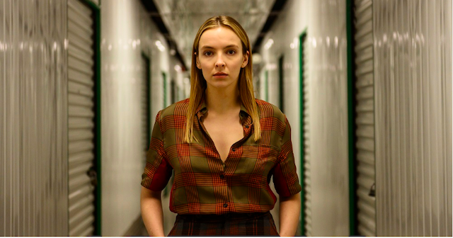 The character 'Villanelle' in a self-storage facility