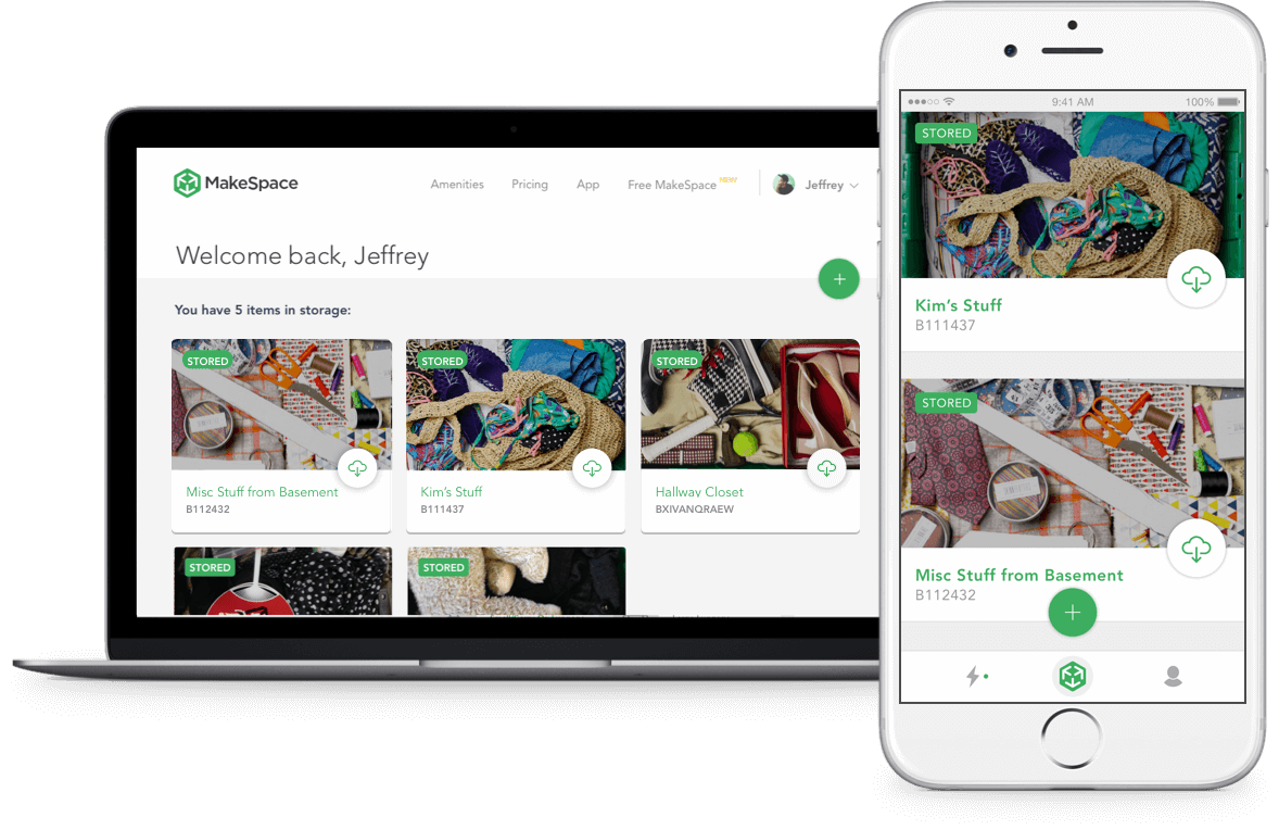 Manage your stuff in Makespace through the iOS app and website