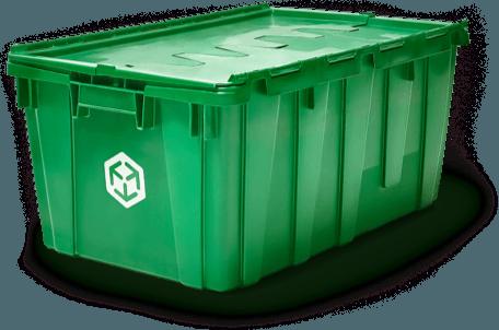 MakeSpace Durable Plastic Green Bin